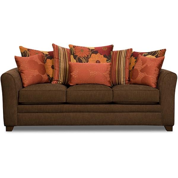 Simmons Upholstery Beautyrest Avignon Earth Sofa