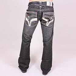Laguna Beach Men's 'Seal Beach' Black Wash Jeans