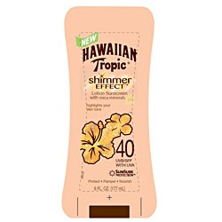 Hawaiian Tropic Shimmer Effect 6-oz SPF 40 Sunscreen Lotions (Pack of 4)
