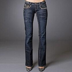 Laguna Beach Women's 'Sunset Beach' Camo Stitch/ Crystal Jeans