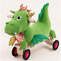 Wonderworld Toys Detachable Puffy Dragon Plush Ride-on with Sounds