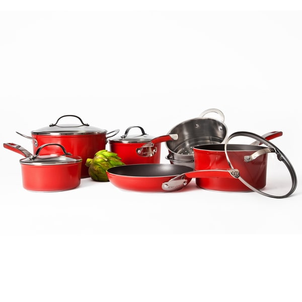 Cat Cora Red 10-piece Cookware Set
