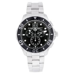 Tag Heuer Men's Aquaracer Watch with Black Dial