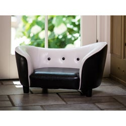 Enchanted Home Pet Black and White Snuggle Sofa Bed