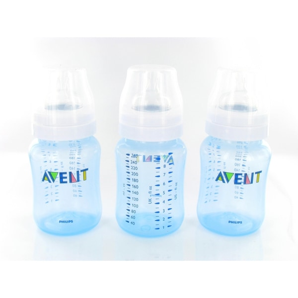Philips Avent Blue 9-ounce BPA-free Natural Feeding Bottles (Pack of 3)