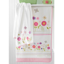 Floral Garden Embroidered or Velour Printed 6-piece Towel Set