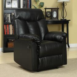 ProLounger Wall Hugger Black Renu Leather Recliner