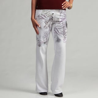 Spy Women's White Winged Heart Sweat Pants