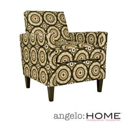 angelo:HOME Sutton Modern Pinwheel Chocolate Brown Chair