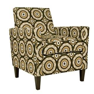 Portfolio Gia Chocolate Brown Pinwheel Chair