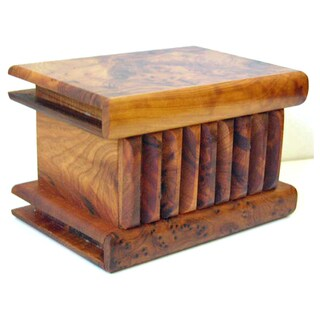 Moroccan Burl Wood Puzzle Box (Morocco)