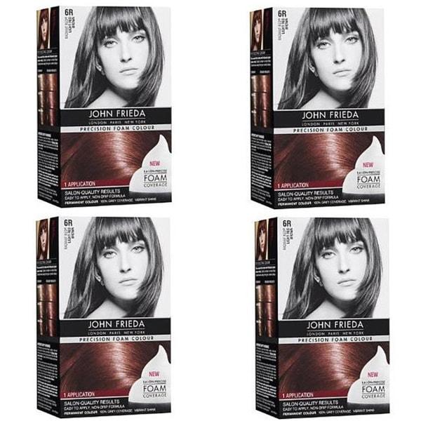 John Frieda Precision Foam Colour 6r Light Red Brown Hair
