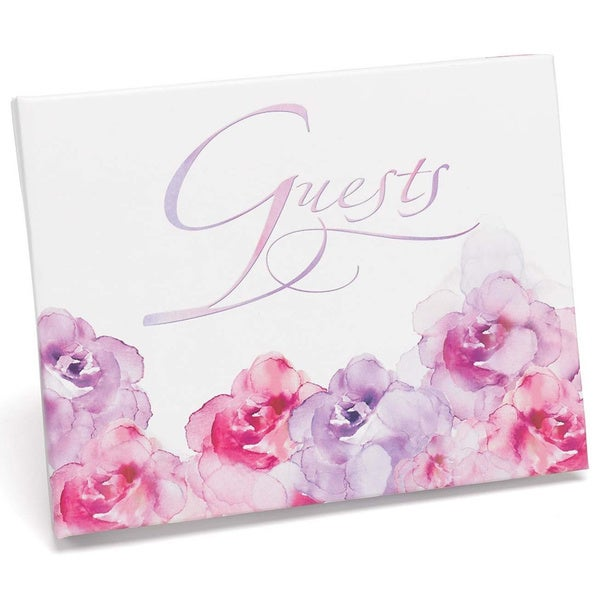 Watercolor Flowers Guest Book