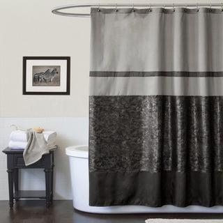 Lush Decor Crocodile Black Shower Curtain