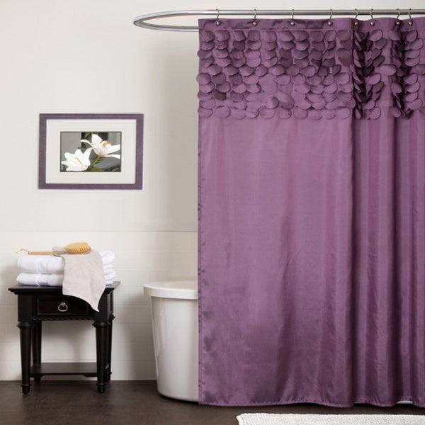 Lush Decor Lillian Purple Shower Curtain
