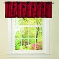 Lush Decor Red/ Black Milione Fiori Valance