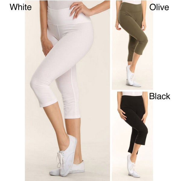 4Now Fashion Women's Cotton High-waist Athletic Pants