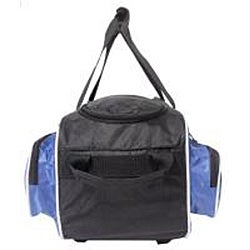 TNT Unisex Black and Blue Nylon Three-ball Rolling Bowling Bag