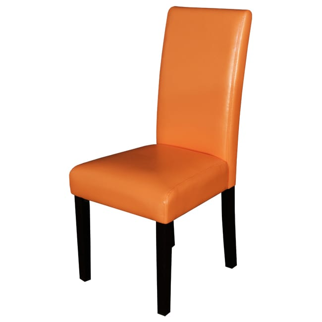 orange leather dining chairs myideasbedroom com
