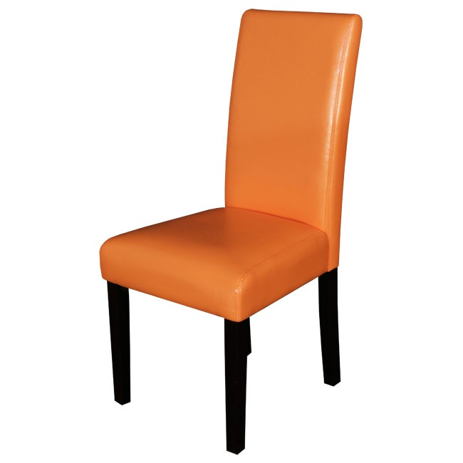 Villa Faux Leather Sunrise Orange Dining Chairs (Set of 2) - Overstock ...