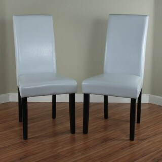 Villa Faux Leather Cloud Grey Dining Chairs (Set of 2)