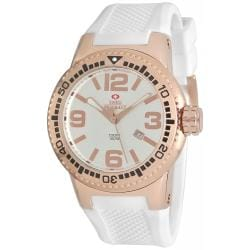 Swiss Precimax Men's Titan White Silicone Watch