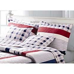 Nautical Stripes Quilted Sham Set