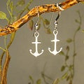 Jewelry by Dawn Sterling Silver Anchor Earrings