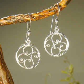 Round Filigree Sterling Silver Earrings