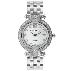 Steve Harvey Women's Silver Crystal Watch