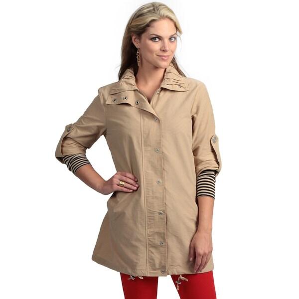 Live A Little Women's Khaki Active Topper Jacket