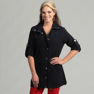 Live A Little Women's Navy Active Topper Jacket