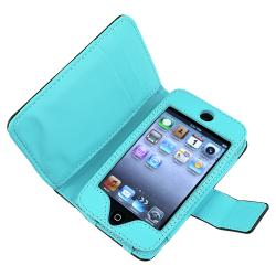 INSTEN Blue Case Cover/ Protector/ Headset for Apple iPod Touch Generation 4