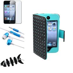BasAcc Blue Case/ Protector/ Headset for Apple iPod Touch Generation 4