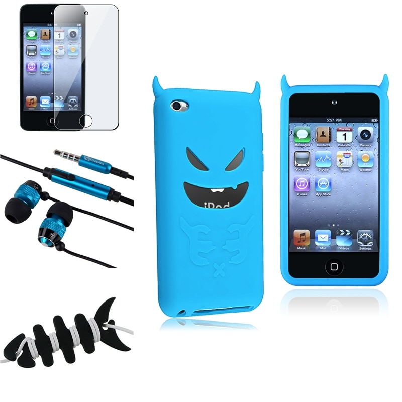 INSTEN Case Cover/ LCD Protector/ Headset for Apple iPod Touch Generation 4
