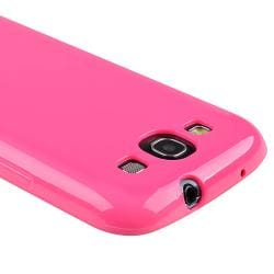 Hot Pink Jelly TPU Rubber Skin Case for Samsung Galaxy S III i9300