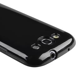 Black Jelly TPU Rubber Skin Case for Samsung Galaxy S III i9300