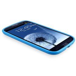 Blue Jelly TPU Rubber Skin Case for Samsung Galaxy S III i9300