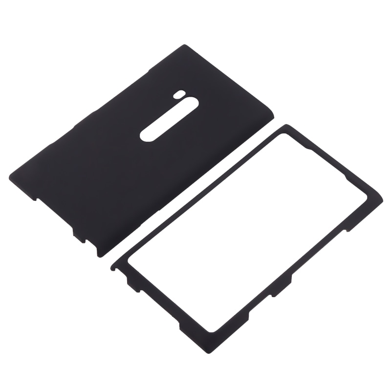 Black Snap-on Rubber Coated Case for Nokia Lumia 900