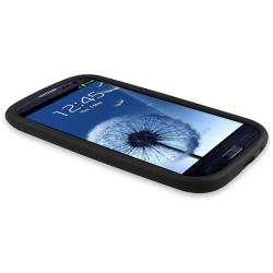 Black Silicone Skin Case for Samsung Galaxy S III i9300