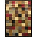 Brown Contemporary Heat-set Rug (5'2 x 7'2)