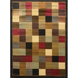 Contemporary Black Heat Set Rug (7'8 x10'4)