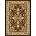 Contemporary Brown Heat-Set Rug (5'2 x7'2)