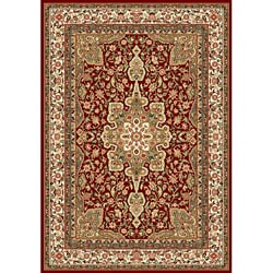 Contemporary Red Heat-Set Rug (5'2 x7'2)