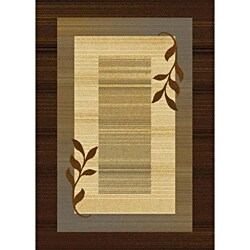Contemporary Brown Heat-Set Rug (5'2 x 7'2)
