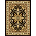Contemporary Black Heat-Set Rug (5'2 x7'2)