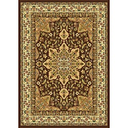 Contemporary Brown/Beige Heat-Set Rug (7'8