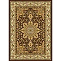 "Contemporary Brown/Beige Heat-Set Rug (7'8"" x 10'4"")"
