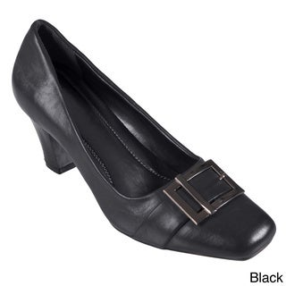 Journee Collection Women's 'CARY-11' Faux Leather Buckle Detail Loafer
