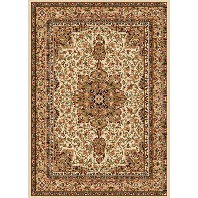 "Contemporary Ivory Heat-Set Area Rug (7'8"" x 10'4"")"